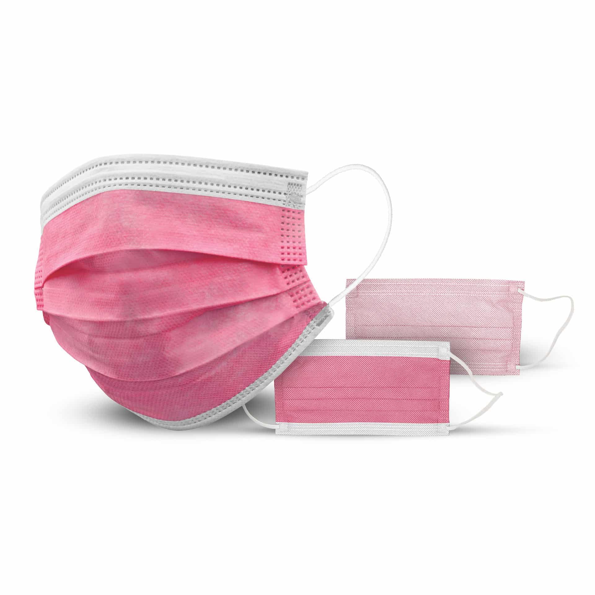 Mascherina chirurgica tipo II (50 pezzi) (Colore: Rosa, Quantità: 10 box / 500 pezzi)